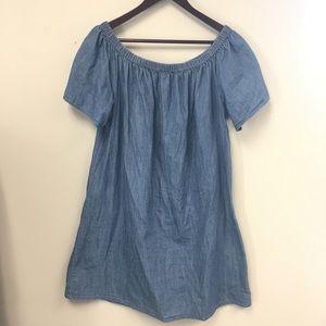 Merona Off The Shoulder Chambray Denim Dress